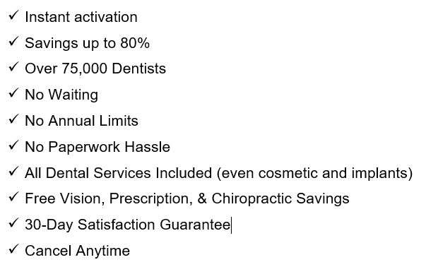 ameriplan dental plan benefits list